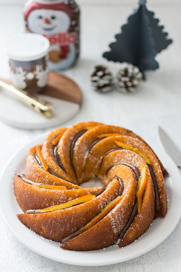 Bundt cake orange et Nutella