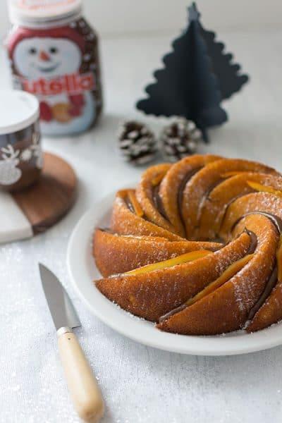 Recette de Bundt cake orange et Nutella, recette facile de couronne de Noël à l'orange et au Nutella !