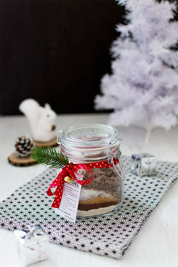 Cadeau gourmand : brownie en bocal {DIY}