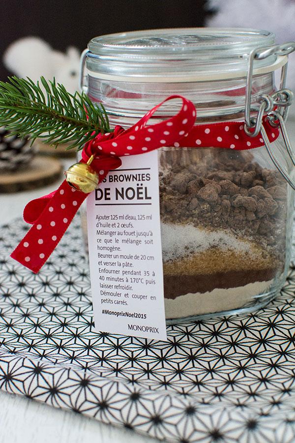 Recette de Noël : Cadeau gourmand : brownie en bocal {DIY}