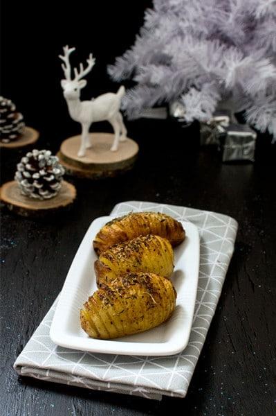 Recette de Noël : pommes de terre à la suédoise (hasselback potatoes)