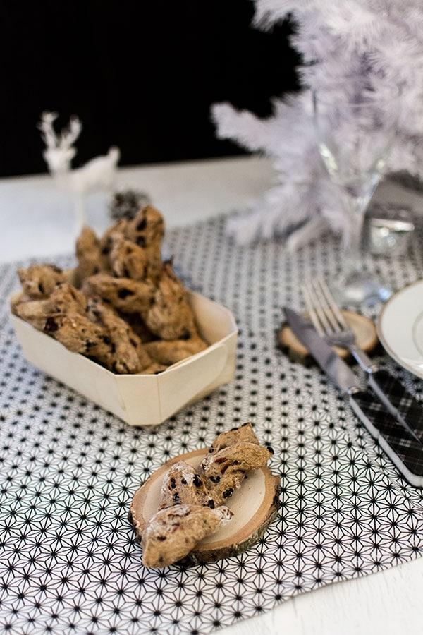 Pains individuels (serviette) de Noël aux cranberries et épices douces