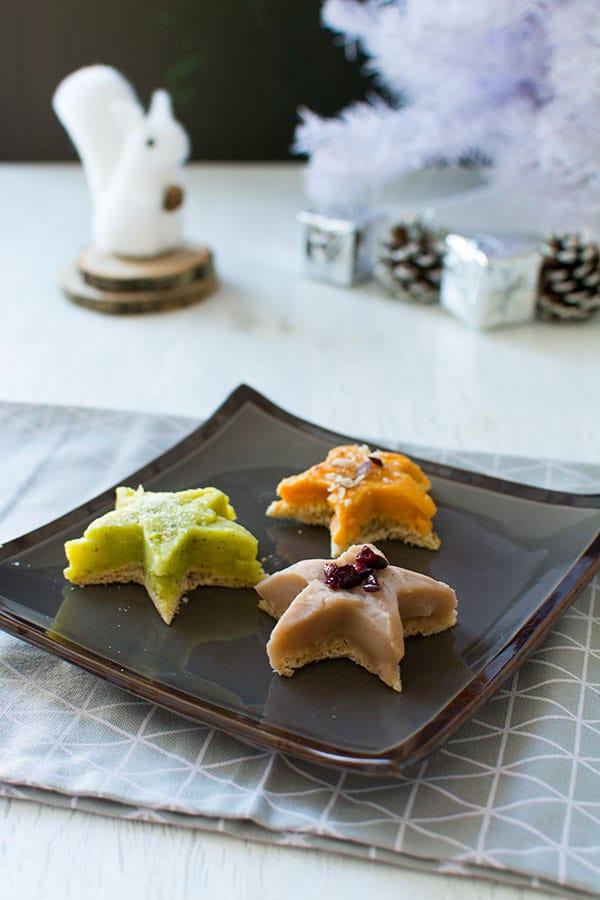 Recette de Noël : Etoiles de purées de légumes façon Picard, recette facile d'accompagnement festif pour noel.