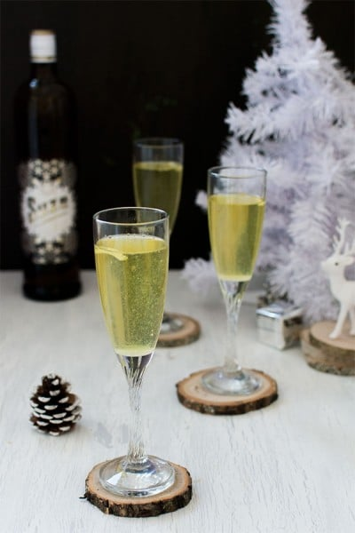 Recette de Noël : Soupe champenoise à la Suze, recette de soupe champenoise, cocktail à base de champagne pour noel