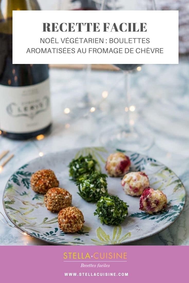Recette de Noël végétarien : boulettes aromatisées au fromage de chèvre
