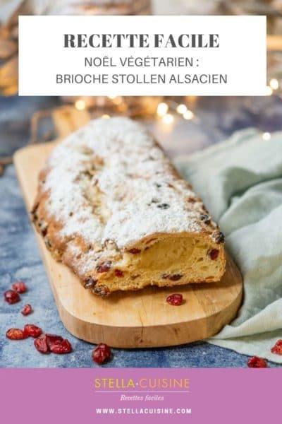 Recette de Noël végétarien : brioche Stollen alsacien