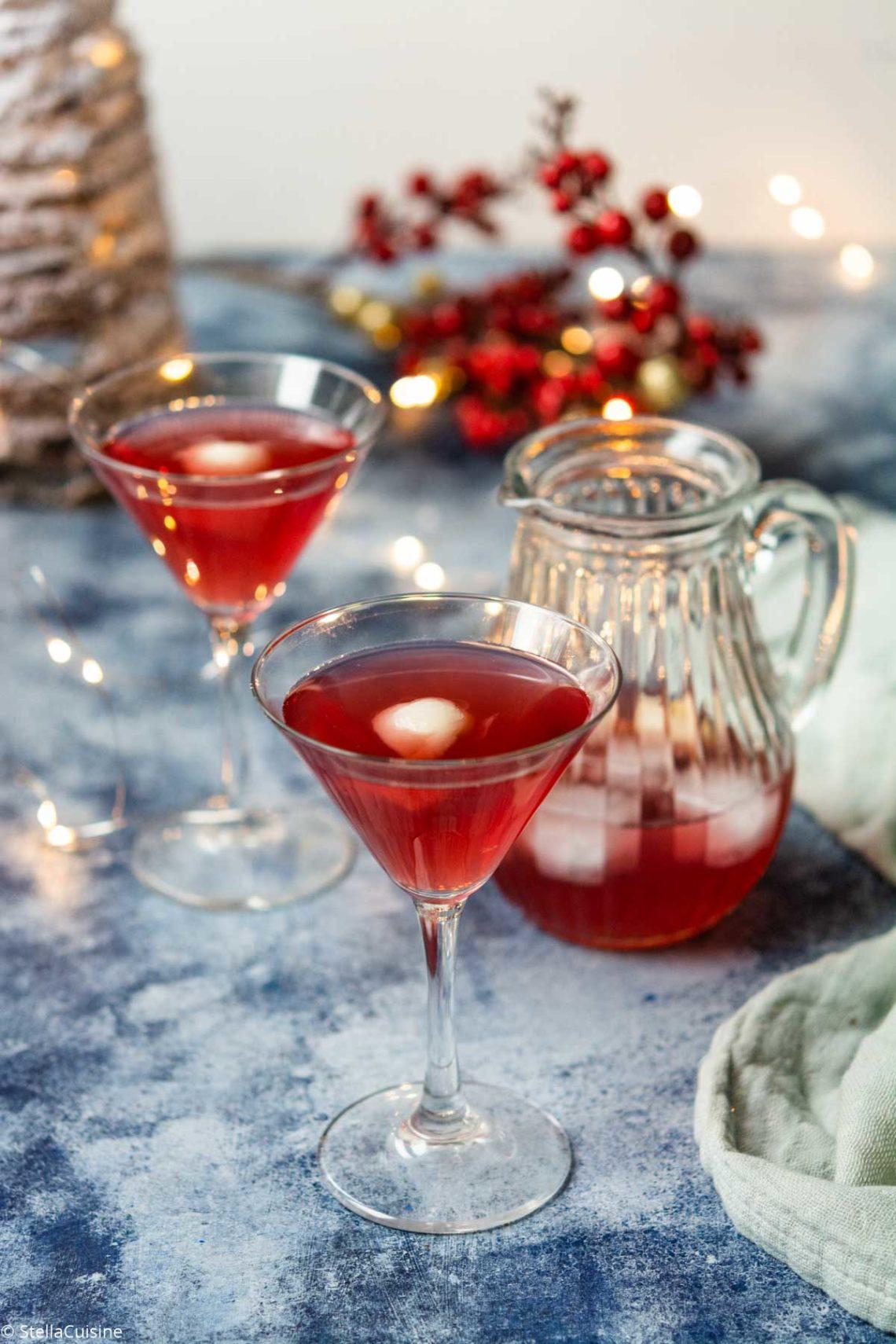 Recette de Noël végétarien : Cocktail au litchi