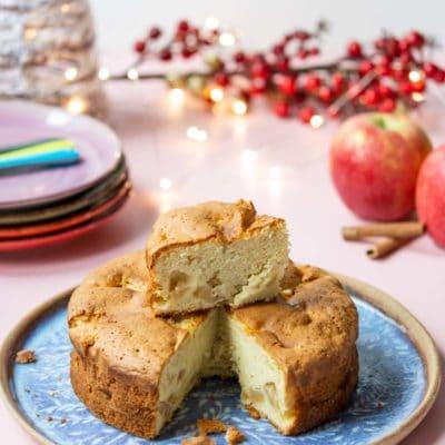 Recette de Noël végétarien : gâteau moelleux pommes et cannelle