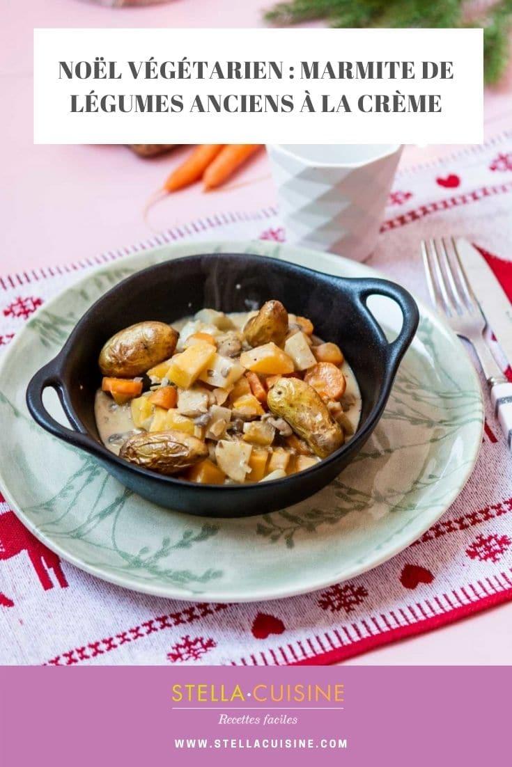 Recette de Noël végétarien : marmite crémeuse de légumes anciens