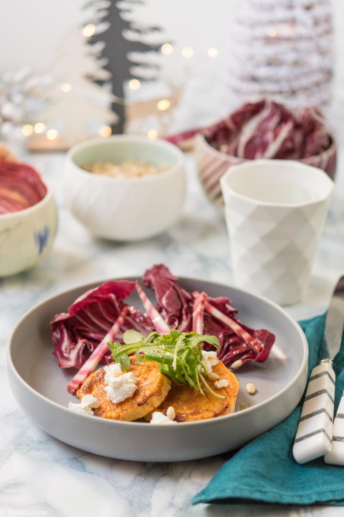 Recette de Noël végétarien : patates douces rôties au miso