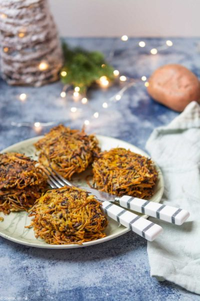 Recette de Noël végétarien : Röstis de légumes anciens. Accompagnement de Noël simple et délicieux à base de légumes