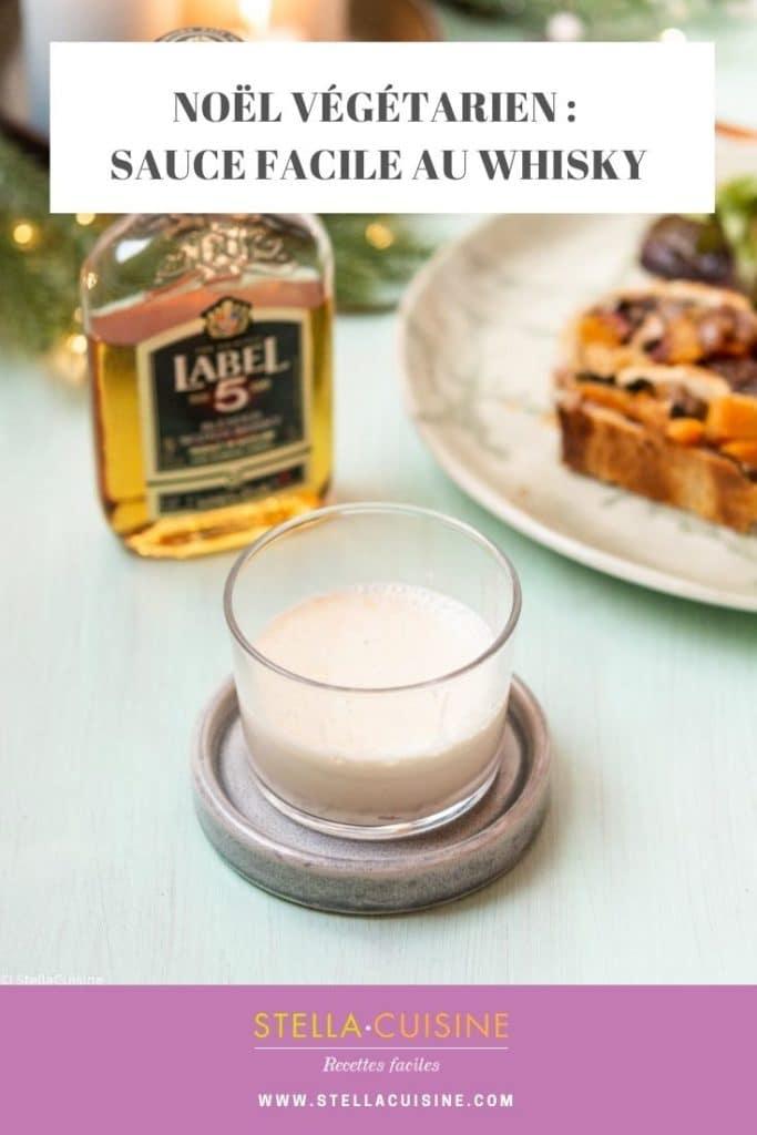 Recette de Noël végétarien : sauce au whisky