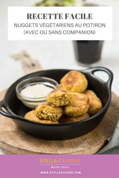 Recette de Nuggets végétariens au potiron (avec ou sans Cuisine Companion)