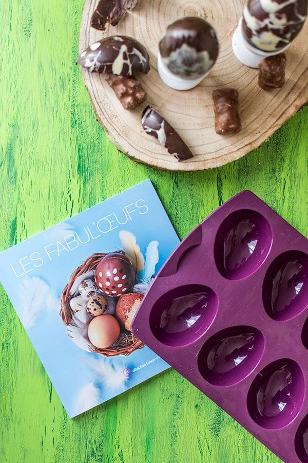 Recette d'œufs surprise au chocolat {Concours Tupperware}, moule à œufs Tupperware
