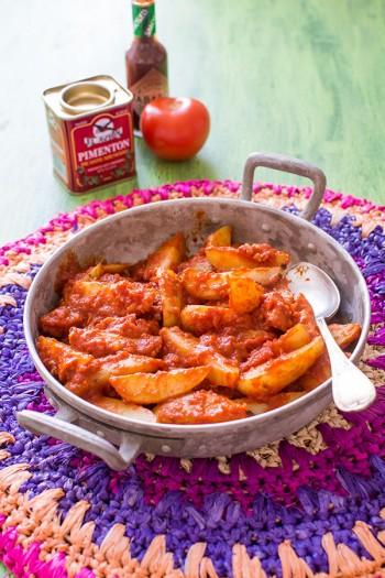 Recette de tapas : patatas bravas {Moulinex Cuisine Companion}