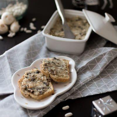 Recette de Pâté végétal aux haricots blancs et champignons