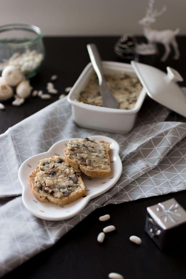 Pâté végétal aux haricots blancs et champignons