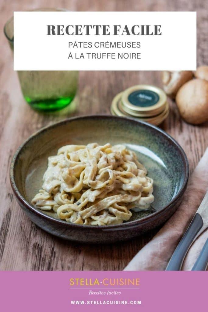 Recette de Pâtes crémeuses à la truffe noire. Recette facile de pâtes à la truffe. Pâtes à la truffe comme chez Big Mamma ou Simone Zanoni.