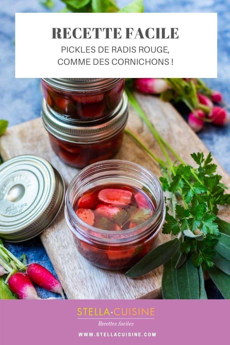 Recette de Pickles de radis rouge, sur le même principe que des cornichons !