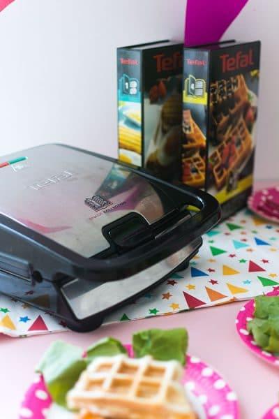 Recette de Gaufres comme des pizzas {Concours Tefal Snack Collection, 8 ans du blog}