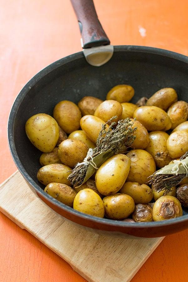 Recette de Pommes de terre grenaille