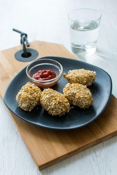 Recette de Nuggets de poulet aux flocons d'avoine {Moulinex Cuisine Companion}