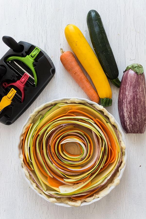 Recette de Quiche tourbillon de légumes {Tupperware Click Série}
