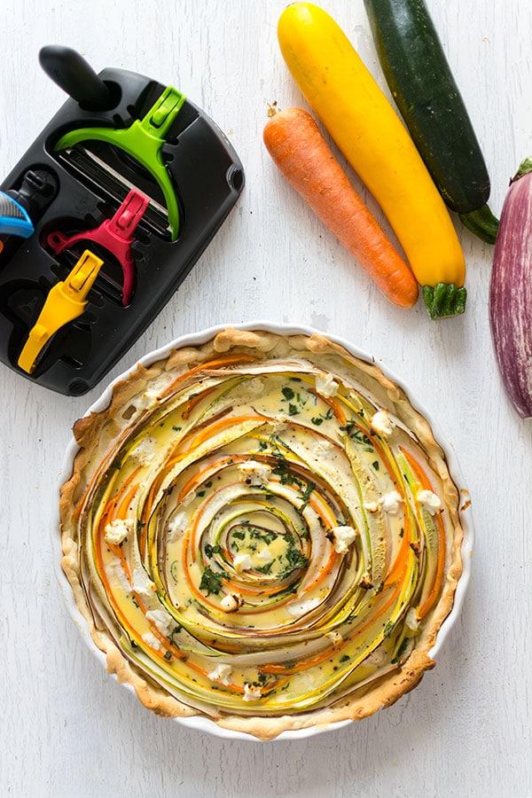 Quiche tourbillon de légumes {Tupperware Click Série}