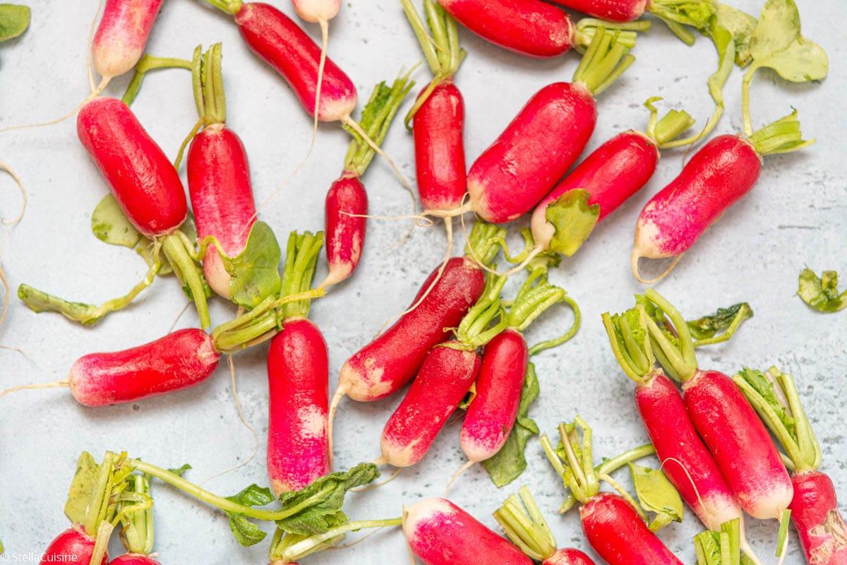 Radis rose, délicieux en pleine saison de printemps ! Des recettes avec du radis rose à foison !