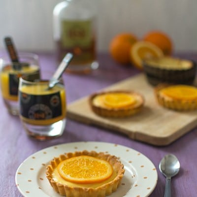 Recette avec du Rhum HSE, tartelettes à l'orange