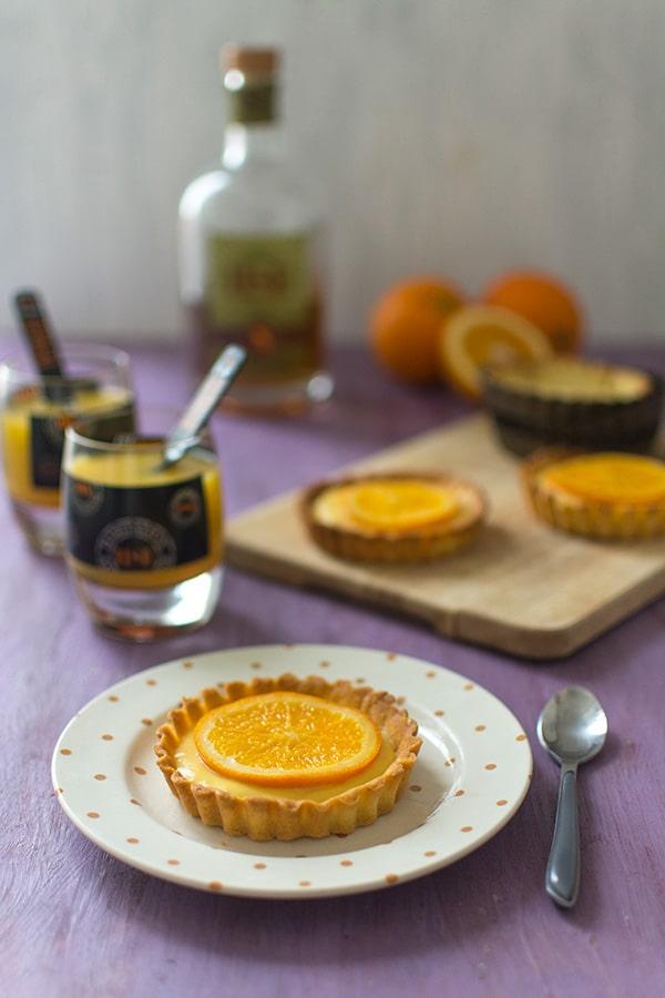 Tartelettes à l'orange et au rhum ambré HSE