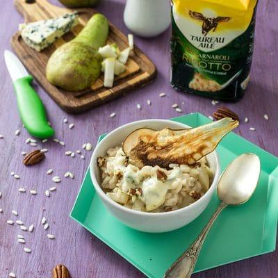 Risotto Taureau Ailé à la poire et au fromage bleu