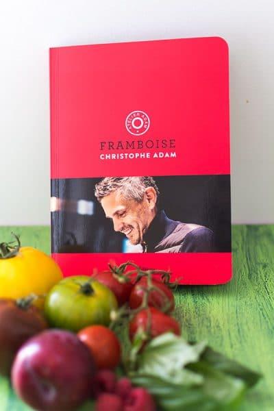 Recette de Salade tomates, mozzarella, framboises par Christophe Adam {Livre Framboise - Éditions de La Martinière}