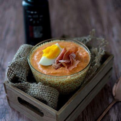 Recette de Salmorejo express à l'huile d'olive Les Callis
