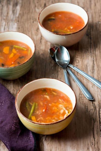 Recette de Minestrone, soupe de légumes (recette Cookeo)