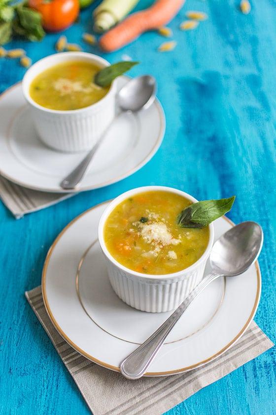 Minestrone (soupe italienne aux légumes)
