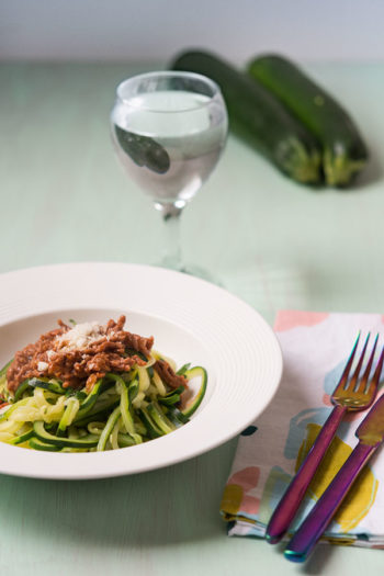 Recette de Spaghettis de courgettes à la bolognaise