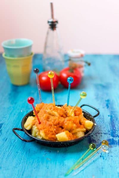 Recette de Patatas bravas (recette Cookeo), recette facile et rapide, à retrouver sur Foodle !