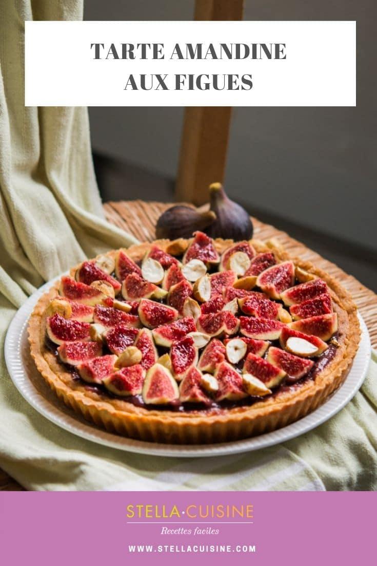 Recette de Tarte amandine aux figues (et à la noisette) ! Recette de saison avec les figues, tarte noisettine aux figues fraîches !