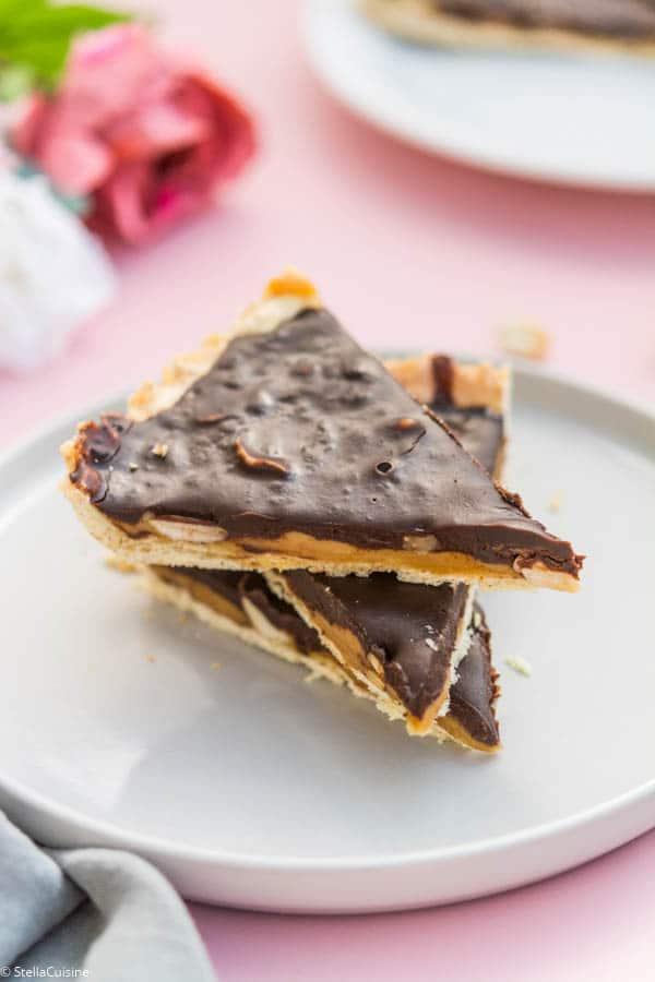 Recette de Tarte chocolat, caramel et cacahuètes (façon Snickers)
