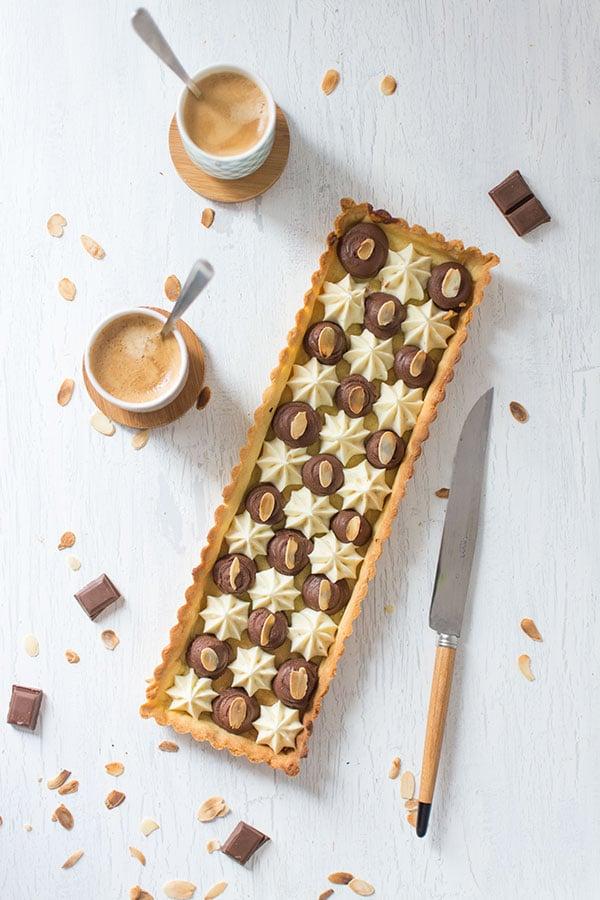 Tarte aux deux chocolats Nestlé Dessert Amande et Corsé