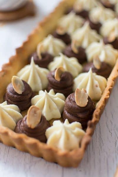 Recette de Tarte aux deux chocolats Nestlé Dessert Amande et Corsé, recette facile de tarte au chocolat revisitée !