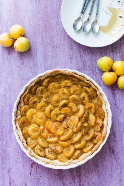 Recette de Tarte aux prunes, recette facile et rapide de pâte sablée pour tarte aux prunes. Reine Claude, Mirabelles, il faut se faire plaisir !