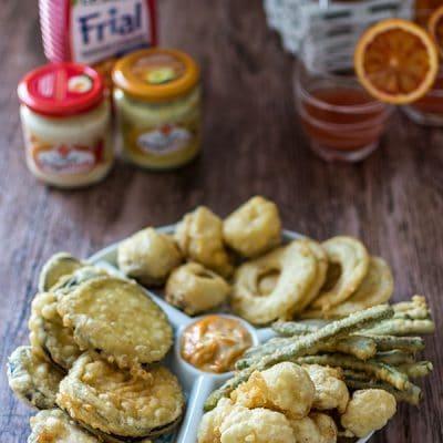 Recette de Tempura de légumes pour l'apéritif, pâte à beignets pour légumes.