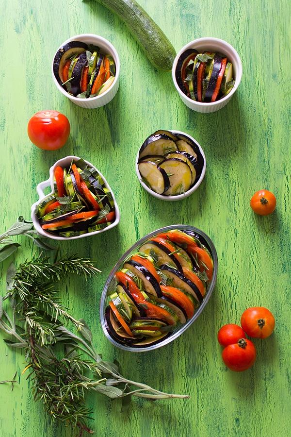 Recette de tian de légumes (aubergines, tomates, courgettes)