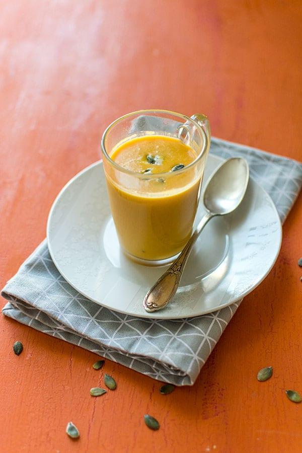 Recette de Velouté de courge butternut au Roquefort {Moulinex Cuisine Companion}