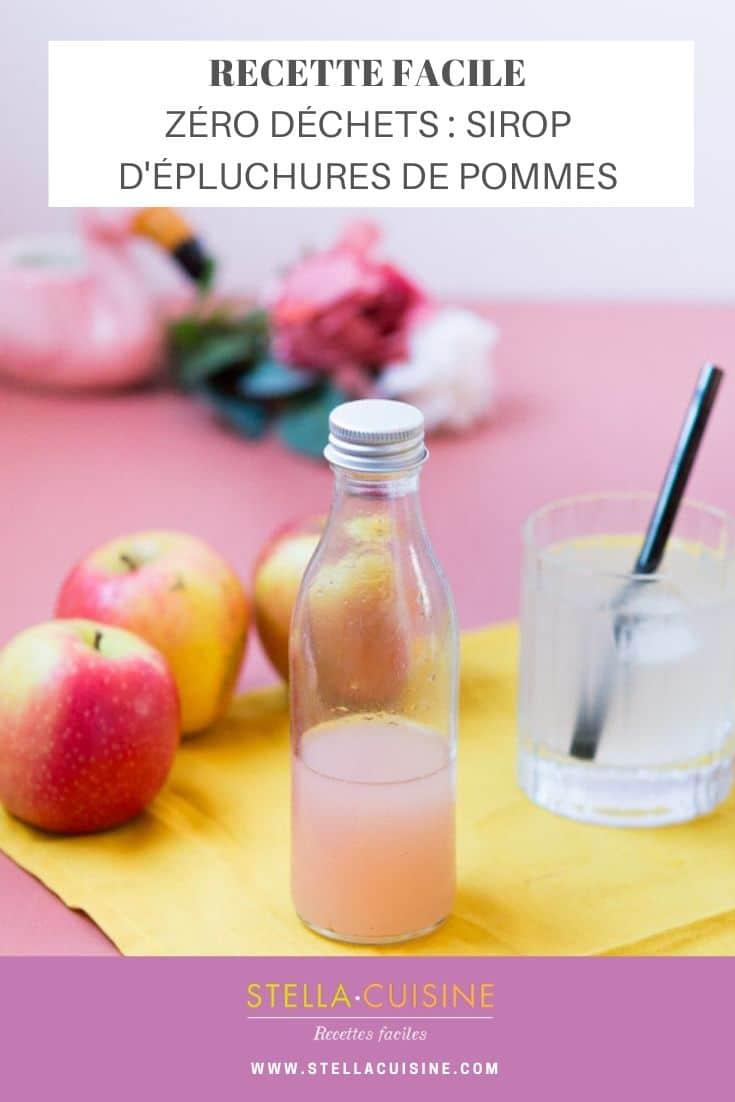 Recette Zéro déchets : sirop d'épluchures de pommes. Recette anti gaspi avec des épluchures de pommes, des trognons de pommes pour un sirop rafraîchissant !