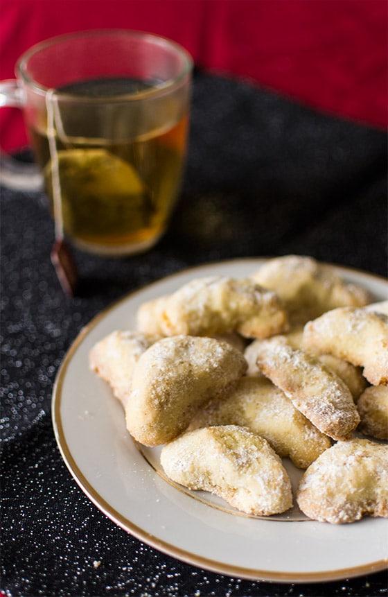 Bredele alsacien : Vanille Kipferl ou demi-lunes à la vanille