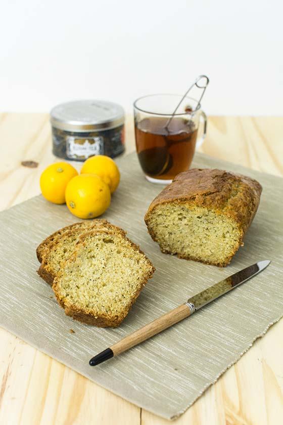 Cake au citron bergamote et au pavot