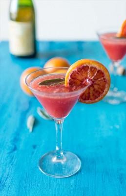 Recette de cocktail à l'orange sanguine et au cidre